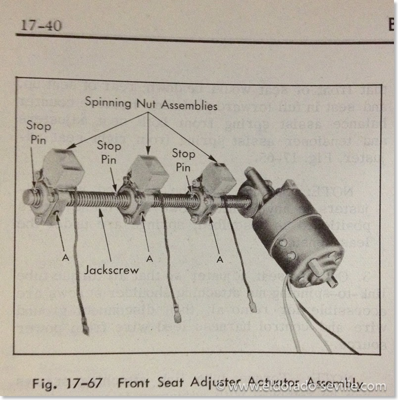 1958 cadillac power seat wiring diagram for power seat